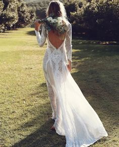The back of this dress is stunning!