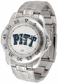 Pittsburgh Panthers Suntime Mens Sports Watch w/ Steel Band - NCAA College Athletics by SunTime. $49.95. The Sport Steel watch by Suntime features your favorite team logo in a European styled stainless steel case with a stainless steel strap and security buckle.. Save 29%!