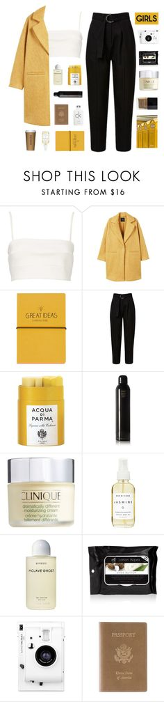 """i'm overwhelmed and insecure, give me something"" by deliight ❤ liked on Polyvore featuring Witchery, MANGO, Topshop, Acqua di Parma, Oribe, Clinique, Herbivore, Byredo, e.l.f. and Butter London"