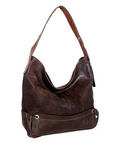 Another great find on #zulily! Chocolate Pow Wow Leather Hobo by Nino Bossi Handbags #zulilyfinds