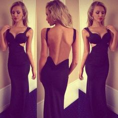 black Prom Dresses,sexy prom dress,long prom Dress,backless prom dress,evening dress,BD0396