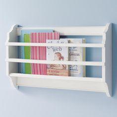 The Land of Nod   Kids' Shelves Kids White Wall Book Bin in Shelf & Wall Storage  for between bunks