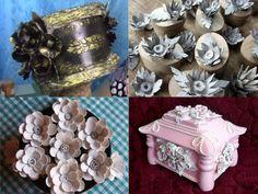 Mikor megláttam ezeket az ötleteket, a szavam is elállt! Nem tudtam, hogy ennyi minden készíthető tojástartókból! - Bidista.com - A TippLista! Cd Crafts, Diy And Crafts, Paper Crafts, Paper Flowers Diy, Flower Arrangements, Origami, Recycling, Decorative Boxes, Handmade