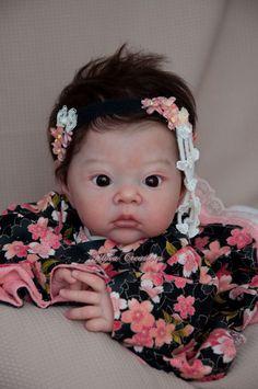Akina Reborn Vinyl Doll Head by Adrie Stoete Mix & Match Reborn Babypuppen, Reborn Doll Kits, Reborn Toddler Dolls, Reborn Babies, Lifelike Dolls, Realistic Dolls, Beautiful Babies, Beautiful Dolls, Beautiful Things