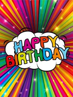 Send Free Colorful Rainbow Happy Birthday Card to Loved Ones on Birthday & Greeting Cards by Davia. It's free, and you also can use your own customized birthday calendar and birthday reminders. Happy Birthday Best Wishes, Happy Birthday Pictures, Happy Birthday Sister, Happy Birthday Messages, Happy Birthday Quotes, Happy Birthday Greetings, Birthday Greeting Cards, Happy Birthday Rainbow, Happy Birthday Honey
