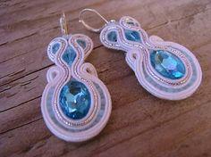 Ridgways / White/Turquoise...soutache