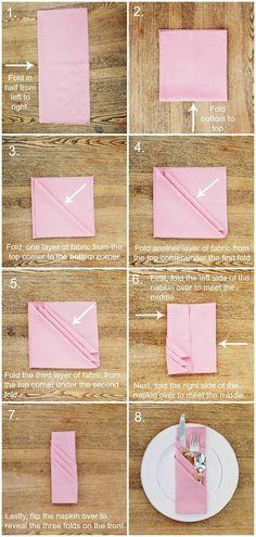 Сложить салфетку на праздничный стол просто!