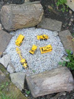Construction site outdoor small world play: