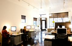 clean airy and open office space