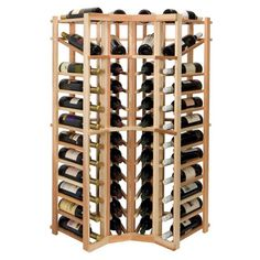Perfect for your wine cellar or home bar, this corner rack offers a 44-bottle capacity and handsome finish. $179. (Paint it yellow and bump it up against the side of the fridge to use that last little bit of space on the otherwise unusable southern kitchen wall?)   Product: Wine rack