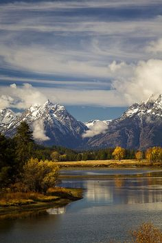 autumn at the Oxbow in Teton National Park, Wyoming
