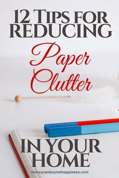 Sometimes I feel like paper is taking over my life! These 12 tips have helped me to reduce paper clutter in my home by over 50%. Check them out!