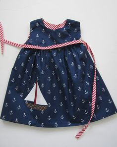 "Sailboat dress ~ Sarah Jane's ""Out to Sea"" fabric"