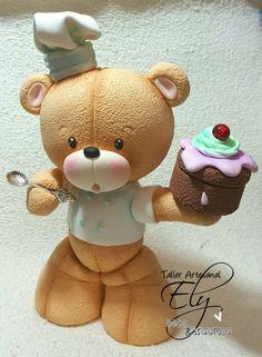 Oso cocinero en porcelana Soft♡