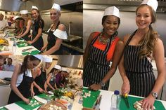 Miss Universe Great Britain 2016 finalists participate in Cooking for a Cause Event