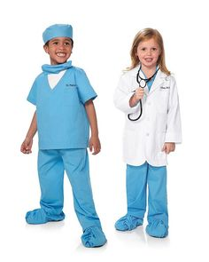Personalized Jr. Doctor Scrubs Costume for Kids | Chasing Fireflies