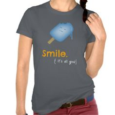 Start your day off on a #positive note with this smiley and encouraging #design featuring an adorably #happy #popsicle. #fashion #tees