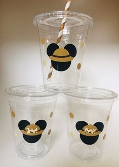 Mickey or Minnie Safari Party Cups Mouse Ears Birthday Cup Set With Lids/Straws Jungle 2nd Birthday Party For Girl, Safari Theme Birthday, Mickey Mouse Clubhouse Birthday, Birthday Cup, Safari Party Favors, Safari Cupcakes, Bachelorette Party Cups, Mickey Party, Mouse Ears