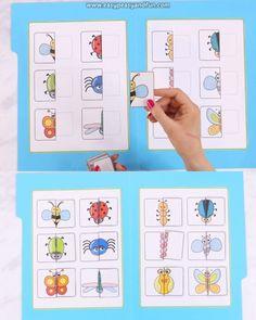 Printable Bugs Matching File Folder Game - Easy Peasy and Fun - #bugs #Easy #file #Folder #Fun #game #matching #Peasy #Printable