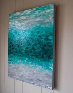 """Emerald Isle"" - Original Abstract Art by Kellie Morley"