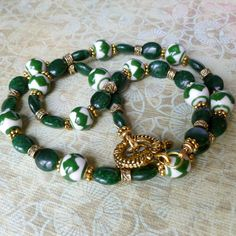 Suerte Verde Green Luck Necklace and Earrings by MangoTease