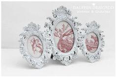 Bilderrahmen Barock -weiß - Shabby Vintage Art von  Dauphin-DesignDD  auf DaWanda.com
