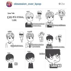 Exo M ideal type fan art. My friend read this and said I would be perfect for Luhan,