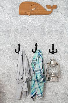 30 New Ideas for bath room wallpaper nautical Ocean Bedroom, Nautical Bedroom, Nautical Bathrooms, Ocean Themed Nursery, Nautical Furniture, Cabin Furniture, Western Furniture, Boho Nursery, Bedroom Furniture