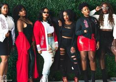 Miami Alumnae Chapter of Delta Sigma Theta Tomboy Outfits, Fall Outfits, Fashion Outfits, Emo Outfits, Punk Fashion, Delta Sigma Theta Apparel, Sorority Pictures, Red Chucks, Emo Dresses