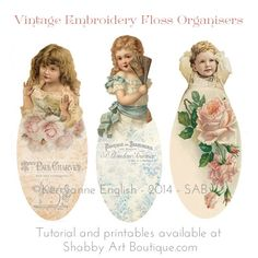 Embroidery Floss Organisers by Shabby Art Boutique Free printable