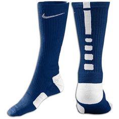 Nike Elite Basketball Crew Sock - Mens - Midnight Navy/White