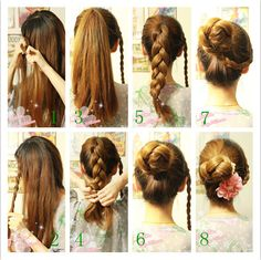 What an adorable and simple hairdo! Follow the Step-By-Step directions to make your own!