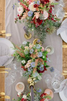 Uncommon Colors of Burgundy, Grey, Blue & Peach for this Colorful Summer Wedding