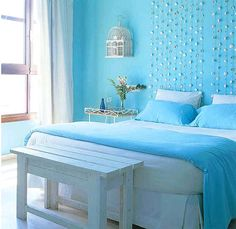 Blue Bedroom | Blue bedroom ideas/ NEED TO KNOW THE WALL PAINT COLOR??