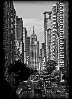Sao Paulo. This black and white picture hides the grime of the city nicely. I spent most of my time in this city running from bus station to bus station or from bus station to airport... so I don't have many good memories about it. I did cry when I left it for Lima, Peru, though because it meant I was going home! I left my heart in Brasil.