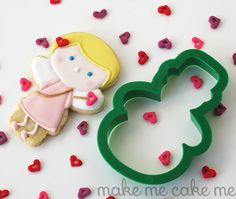 Cupid Girl Cookies from a Snowman Cutter | Make Me Cake Me