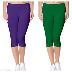Capris Trendy Cotton Lycra Capris Leggings Fabric: Cotton Lycra Size: Up To 28 in to 36 in( Free Size) Length: Up To 34 in  Type: Stitched Description: It Has 2 Piece Of Women's Capris Pattern: Solid Country of Origin: India Sizes Available: Free Size, 24, 26, 28, 30, 32 *Proof of Safe Delivery! Click to know on Safety Standards of Delivery Partners- https://ltl.sh/y_nZrAV3  Catalog Rating: ★4 (2888)  Catalog Name: Alice Trendy Cotton Lycra Capris Combo Leggings CatalogID_136944 C79-SC1037 Code: 442-1110958-