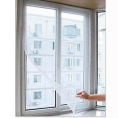 Self-adhesive Insect Fly Mosquito Screens DIY Mosquito Screens Gauze Curtains With Velcro HG-0335 $3.76