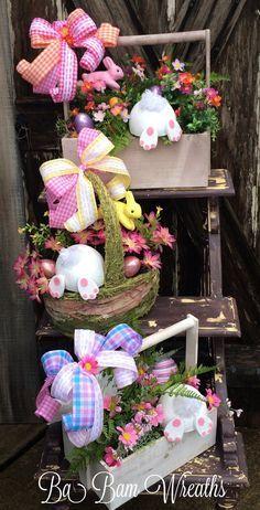 Easter Floral Easter Arrangement Easter by BaBamWreaths on Etsy