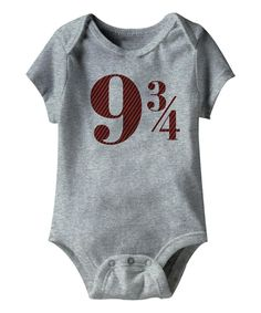 Look at this Gray Heather '9 3/4' Bodysuit on #zulily today!