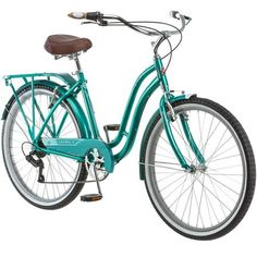 Comfortable, functional and fun, the Schwinn Fairhaven Cruiser Bike is ideal for a relaxed and enjoyable ride that doesn't compromise on style? You'll have a blast cruising around the neighborhood and on your favorite bike paths with friends and family. Beach Cruiser Bikes, Cruiser Bicycle, Buy Bike, Bike Run, Retro Bike, Road Bike Women, Bicycle Maintenance, Vintage Bicycles, Cool Bikes