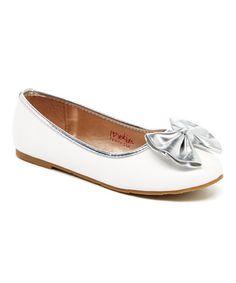 White Terri Ballet Flat #zulily #zulilyfinds
