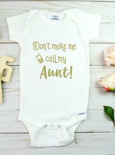 Funny aunt onesie, click above to shop