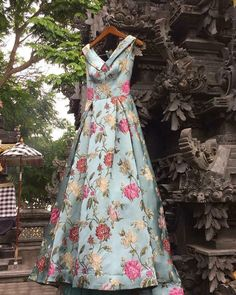 Florals Floral Print Gowns, Printed Gowns, Simple Gowns, Evening Dresses, Prom Dresses, Party Wear Lehenga, Indian Gowns, Western Dresses, Indian Designer Wear