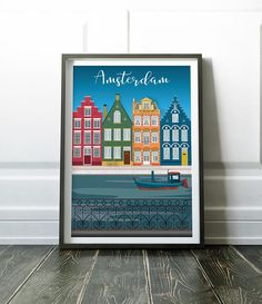 Wall Art Print, Amsterdam Wall Art, Amsterdam Poster, Wall Art, Amsterdam Print, Print, Poster, Travel Wall Art, Travel Poster, Travel Print