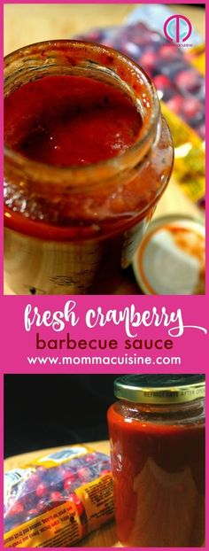 Fresh Cranberry Barbecue Sauce. A delicious BBQ sauce for any time of the year! #cranberry #BBQ #sauce