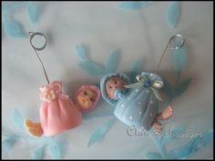 Lembrancinha de nascimento bebe na trouxinha - Biscuit / Porcelana Fria