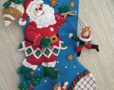 Chickadees Completed Handmade Felt Christmas by GrandmasStitchings