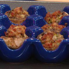 Haylie Duff's Sausage-and Thyme-Stuffed Mushrooms (rachel ray 10/18/13)