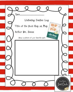 Free reading buddies Story log for Hop on Pop! by Dr. Seuss